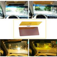 Wholesale Automobile Sun Visors - HDVISION Car Sun Visor Goggles For Driver Day And Night Anti-dazzle Mirror Anti-Glare Goggle Sun Visors Automobile Sun-shading Block