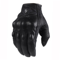 Wholesale Wholesale New Finger Genuine - Wholesale- 2016 New arrival touch screen genuine leather motorcycle gloves spring and summer autumn off-road motorcycle race gloves