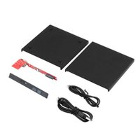 Wholesale Internal Slim Dvd - New Portable USB 2.0 DVD CD DVD-Rom SATA External Case Slim for Laptop Notebook Wholesale