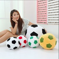 Wholesale Gift Football World Cup - 1pcs 20cm Home Sofa Soccer Ball Plush Pillow Toys World Cup Football Fan Memorable Gift 4 Colors