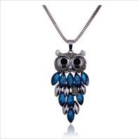 As Desc. owl necklace korean - 2016 Necklaces Pendants Sweater Chain The Owl Long Necklace Female Korean Fashion Clothing Accessories Pendant Jewelry New