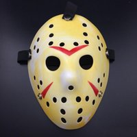 Gold Vintage Party Masks Delicated Jason Voorhees Freddy Hockey Festival Halloween Masquerade Mask Frete grátis