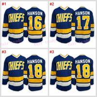 Wholesale Men Winter Jack - #16 Jack HANSON - Hanson brothers Charlestown CHIEFS Blue 2016 Cheap Hockey Jerseys Ice Winter Jersey All Stitched Free Shipping Size 48-56
