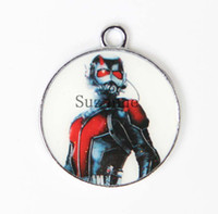 Оптовые 50pcs Ant-Man Enemel Metal Charms Jewelry Making DIY Pendants
