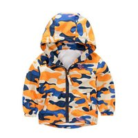Wholesale Wholesale Ski Coats - Boy ski-wear, coat the new 2017 children in the spring and autumn period and the children's wear children's camouflage printed baby leisure