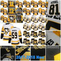 Wholesale Blue Penguin - 2018 Pittsburgh Penguins Jake Guentzel Sidney Crosby Phil Kessel Matt Murray Evgeni Malkin Mario Lemieux Patric Hornqvist Kris Letang Jersey
