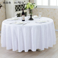 "Wholesale Wholesale Cotton Tablecloth - 126""Table cloth Table Cover round for Banquet Wedding Party Decoration Tables Satin Fabric Table Clothing Wedding Tablecloth Home Textile"