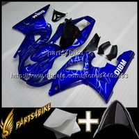 Wholesale R1 Cowl - 23colors+8Gifts BLUE motorcycle cowl for Yamaha YZF-R1 1998-1999 98 99 YZFR1 1998 1999 98-99 ABS Plastic Fairing