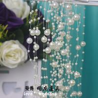 árbol de navidad blanco de china al por mayor-246 FT (75 M) Cadena de Cadena de Perlas Blancas Guirnalda de Navidad Boda Nupcial Ramo de Decoración de Navidad Suministros de Arte de DIY