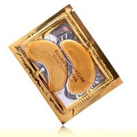 altını sopa toptan satış-Anti-Kırışıklık YENI Kristal Kollajen Altın Tozu Göz Maskesi Altın Maske sopa koyu halkalar 2000 pair Via DHL FEDEX