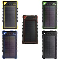 8000mAh Telefone Solar Power Bank Backup Bateria externa Battery Charger USB Panel