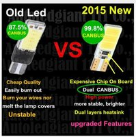 Wholesale Led Signal Super - 100PCS T10 168 T15 W5W COB LED High Power Signal Tail Turn Bulb Light Super White wholesale price