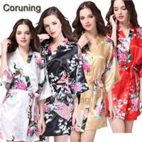 Wholesale Sexy Woman Silk Wear - Wholesale- RB052 Sexy Summer Women Pure Silk Nightdress Sleepwear Nightgown Bath Robes Night Wear 2016