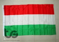 Wholesale Hungary Free - Hungary banner national flag Free shipping 3x5 FT 90*150cm Hanging National flag Hungary Home Decoration banner