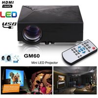 Wholesale portable tv for video games for sale - Group buy GM60 Mini Portable LED Projector Lumens FULL HD P USB VGA AV SD For Video Games TV LCD Home Theater Movie Proyector Cinema Beamer