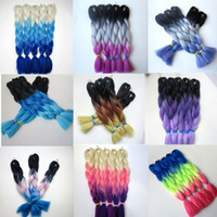 Wholesale ombre xpression braiding hair for sale - Kanekalon Synthetic Braiding Hair inch g Ombre Three Color Xpression Jumbo Crochet Braids Twist Synthetic Hair Extensions
