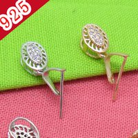 Wholesale Sterling Pinch Clip Bail - Wholesale-Min 5piece,925 Sterling Silver Platinum-Rose Gold Fashion Pinch Bail Clasp Jewelry-Pendant Clips