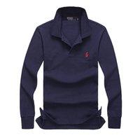 Wholesale High Quality Thermal Long Sleeve - 2017 New high quality polo men Fashion Brand Turn-Down Collar Autumn Casual Mens long sleeve polo shirt 100% cotton poloshirt shirt men