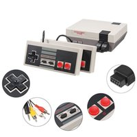 Wholesale Tv Game Console Free Shipping - 2017 Best Selling Mini Vintage Retro TV Game Console Classic 500 Built-in Games 2 Controllers with free shipping
