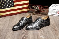best spring shoes leopard wedge - 2016 Spring men Business leather shoes fashion Leopard grain Men Dress Shoes, golden Men Wedding shoes Leather Oxford Shoes For Men F8