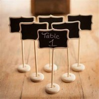 Venda Por Atacado Mini Quadro de Quadro de Blackboard com Stands Etiquetas de Mensagens Buffet Food Signage Place Card Holder Tabela Números Wedding Party Decor