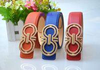 Wholesale Children Metal Belts - 2016 Promotion Candy Colors Girl's Belt Purple Belts Children Flower Decoration Kids Accessories Children's belt free shipping