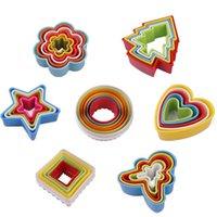 ring geformte süßigkeiten großhandel-Sieben Formen Silikonform Süßigkeiten Form Eis Backform Mousse Ring Form Formen DIY Cookie Formen Küche Mithelfer IB264