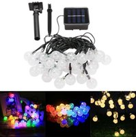 Wholesale Outdoor Plastic Tree - 6M 30LED Solar Light Waterproof Crystal Ball Solar Fairy String Lights for Outdoor Garden Party Decor OOA2630