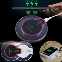 Wholesale Iphone Chargers Earphones - Transparent Fast Qi Wireless Charger Charging For iPhone X 8 Plus Samsung Galaxy S6 Edge Plus S8 Note 8 Earphone P9000