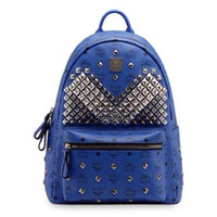 Wholesale Hard Street Bags - The New Women's Backpack Fashion Rivet Bag Medium And Exquisite Elegant Design Classic Bag Street Style