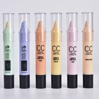 Wholesale Eye Stick Pen - 6 color Hide Blemish Dark Circle Face Eye Foundation Concealer Pen Stick Makeup Menow Cosmetic Concealer Camouflage Pencil Free shipping