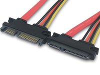 Wholesale Sata Male Female 22 - Hot sale 22 Pin Male to Female 7+15 pin SATA Data Power Combo Extension Cable 30cm