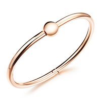 Wholesale Screw Ball Clasp Cuff Bangle Bracelets in Stainless Steel Beading Bangle Silver Rose Gold