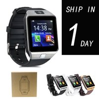 Wholesale Latest Wrist Watches - Smartwatch 2016 Latest DZ09 Bluetooth Smart Watch With SIM Card For Apple Samsung IOS Android Cell phone 1.56 inch Free DHL oth110
