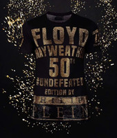 Wholesale Victory Shirt - 2018 New Arrivals Fashion men brand clothing Floyd Mayweather 50th victory rhinestone T-shirt male top quality 100% cotton T shirt for men