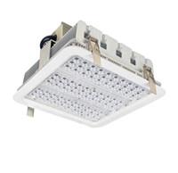yüksek hazneli depo lambaları toptan satış-Patlamaya dayanıklı gölgelik ışıkları kanatlı radyatör 100 W 150 W 180 W GAZ İstasyonu ışıkları için LED yüksek defne ışık depo lamba 5 yıl garanti
