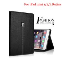 Luxe Noble Business Shockproof Flip Wallet Stand Cover Vintage Housse en cuir PU pour iPad Mini 1/2/3 Retina Shell