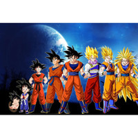 Wholesale Moon Painted Wall - Dragon Ball Z Moon Son Full Drill DIY Mosaic Needlework Diamond Painting Embroidery Cross Stitch Craft Kit Wall Home Hanging Decor
