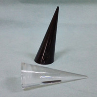 Wholesale Cone Shaped Rings - Pack of 10 Women Lady Girl's Clear Acrylic Rings Jewelry Display Triangular Cone Shaped Practical Durable Stand Holder Rack