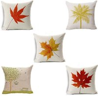 Romantic Plant Pattern Cushion Covers Decorative Tiro Cuscino Coprisedile Sedile Vita quadrato 45x45cm Home Living