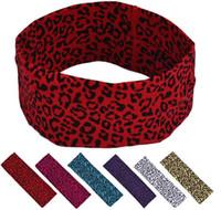 cabeçalhos de jóias venda por atacado-Estampa de leopardo elástico headband hairbands mulheres esportes yoga acessórios para o cabelo envoltório da cabeça faixa de cabelo pulseira de cabelo bobble headwear jóias