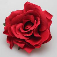 acessórios para cabelo flor broches venda por atacado-Nupcial rosa flor hairpin broche de dama de honra do casamento party beatuiful acessórios grampo de cabelo