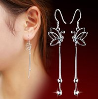 Wholesale Ear Stud Butterfly - High quality Female butterfly ear wire earrings wholesale jewelry earrings earrings wholesale manufacturers mixed batch quality