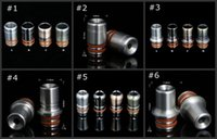 Wholesale ecig new drip tip for sale - Group buy 6 style Stainless Steel new Ego drip tips metal drip tip ss mouthpiece for atomizer tank ecig rda rba vaping DHL