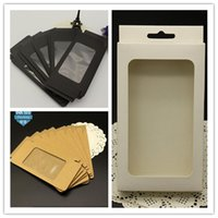 Wholesale Plain Phone Case Cover - Universal Phone Case Cover Package Box Plain Kraft Brown Paper Packing Boxes For iphone 6 6S 7 plus SE 5S 4S Samsung S6 S7 edge S5 Note 4 5