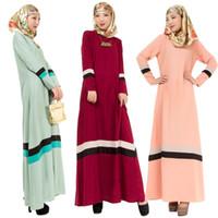 Wholesale Islamic Clothing Design - Hot sale modern muslim long sleeve maxi dress Modern design multicolor muslim elegant clothing Wholesale modern islamic clothing
