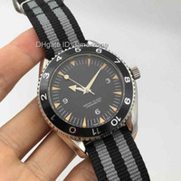 Wholesale ocean face - 2016 Luxury Brand GMT Automatic Sapphire Glass Mens Watch Planet Ocean Blue Face Co-Axial Transparent Original Clasp Men Watches