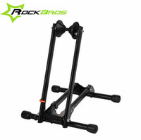 Wholesale Bike Roof Rack - Wholesale-ROCKBROS Portable Double Rod Bicycle Parking Racks Mountain Bike Maintenance Carriage Supporting Frame