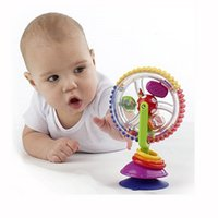 Wholesale Cartoon Windmill - Wholesale- Funny baby three-color rotating windmill toys for newborns baby educational toys baby learning toys 0~12 months