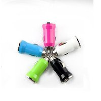 New Universal Bullet USB Car Charger Travel Charging Power Adapter Mini carro cigarro isqueiro soquete para iPhone Samsung Galaxy